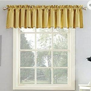 NEW Curtain Valance - Flax Yellow